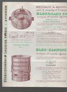 (CAMPING) (Avignon Vaucluse) Prospectus 1938 Réchaud à Alcool BLOCKHAUSS 39 (PPP6326) - Werbung