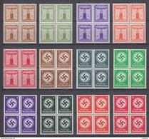 Lot 12 Blocks WWII Third Reich Service Stamps Dienstmarke MNH Luxe - Service