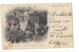 18117 - Jardin D'Acclimatation Village Achanti Joueurs Indigènes Le Coiffeur - Ausstellungen
