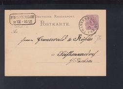 Dt. Reich GSK 1881 Frankenhausen Nach Seifhennersdorf - Deutschland