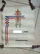 @ Diplome D'honneur Et Patrie Forces Francaises Combattantes De L'Interieur ( FFI ) Décerné Le 1 Juin 1947 @ - Documenti