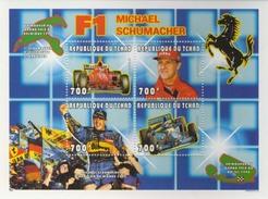 MVU-BK1-184 MSP MINT ¤ TCHAD 1996 4w In Serie ¤ FERRARI - MICHAEL SCHUMACHER - FORMULE  I - Automobile