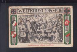 Dt. Reich AK Maschinengewehr Beschiesst Einen Flieger 1916 - Weltkrieg 1914-18