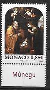 Monaco 2017 - Yv N° 3112 ** - Noël (Représentation De La Nativité Par François Guglielmi) - Monaco
