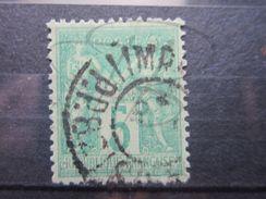 """VEND BEAU TIMBRE DE FRANCE N° 75 , OBLITERATION """" IMPIMES - P.P.82 """" !!! - 1876-1898 Sage (Type II)"""