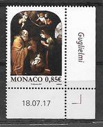 Monaco 2017 - Yv N° 3112 ** - Noël (Représentation De La Nativité Par François Guglielmi) - Unused Stamps