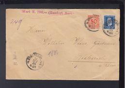 Dt. Reich Wertbrief 1924 Stuttgart Nach Biebrich - Deutschland