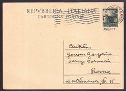 133  - TRIESTE -  CARTOLINA POSTALE PER ROMA - Storia Postale