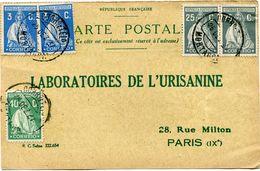 PORTUGAL CARTE POSTALE BON POUR UN FLACON ECHANTILLON D'URISANINE DEPART MORTAGUA 26 DEZ 27  POUR LA FRANCE - 1910 - ... Repubblica