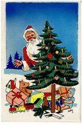 Pere Noel Avec Cadeaux (baigneur,train Tambour...)Ajouts Et Paillettes- Illustrateur Roby- Non Voyagee N615 IDA- - Autres