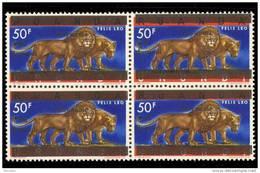 Burundi 0025** X 4 - 50F Lions -MNH- - Burundi