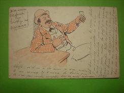 Homme Au Bistrot, 1900, Timbre  (A3) - Men