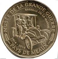 77 SEINE ET MARNE MEAUX GRANDE GUERRE TAXI DE LA MARNE MÉDAILLE MONNAIE DE PARIS 2014 JETON TOKEN MEDALS COINS - Monnaie De Paris