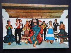 CPSM - COSTA DEL SOL - CUADRO FLAMENCO - DANCE - MUSIC - R8204 - Málaga