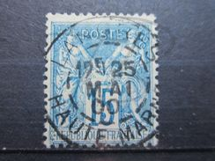 "VEND BEAU TIMBRE DE FRANCE N° 101  , OBLITERATION "" LANGRES "" !!! - 1876-1898 Sage (Type II)"