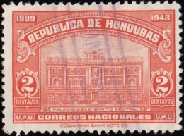 HONDURAS - Scott #337 Central District Palace /Used Stamp - Honduras