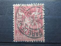 "VEND BEAU TIMBRE DE FRANCE N° 104  , OBLITERATION "" GARE DE BELFORT "" !!! - 1898-1900 Sage (Type III)"