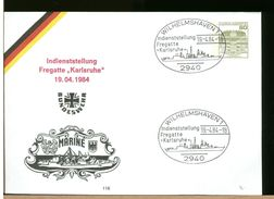GERMANIA - Intero Postale - WILHELMSHAVEN - MARINE - FREGATTE KARLSRUHE - [7] República Federal