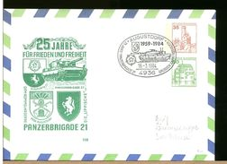 GERMANIA - Intero Postale - AUGUSTDORF - PANZER BRIGADE 21 - GENERALE ROMMEL Kaserne - [7] Repubblica Federale