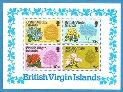 British Virgin Islands 1978: Block  Nr. 8 (340-43)** - Baumblüten #B29 - British Virgin Islands