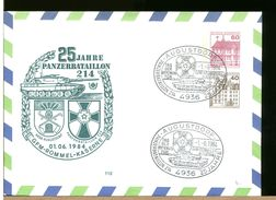 GERMANIA - Intero Postale - AUGUSTDORF - PANZER BATAILLON 214 - GENERAL ROMMEL Kaserne - [7] Repubblica Federale