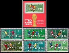 BULGARIA 1974 - COPA DEL MUNDO  - YVERT Nº 2077-2082** + BLOCK 45** - Coppa Del Mondo