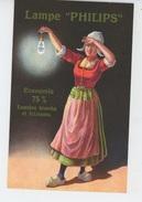"""PUBLICITE - ELECTRICITE - Jolie Carte PUB Pour LAMPE """" PHILIPS """" - Publicité"""