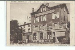 43 PONT D ALLEYRAS Hôtel Des Voyageurs , Façade Avec Personnel - Autres Communes