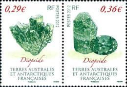 Ref. 296245 * NEW *  - FRENCH ANTARCTIC TERRITORY . 2012. MINERALS. MINERALES - Französische Süd- Und Antarktisgebiete (TAAF)