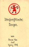 Carte Originale Noël & Sa Liste Au Père Noël Allemande Vers 1940 - Otros