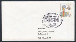 Deutschland Germany 1981 Cover / Brief / Lettre - 75 Jahre Hauptbahnhof Nürnberg / Railway Station - Treinen