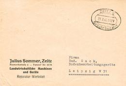 """Alliierte Besetzung SBZ - Notmaßnahme """"Gebühr Bezahlt"""" A. Drucksache V. Zeitz 1945 - Zone Soviétique"""