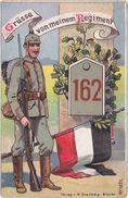 "GERMANY 1915 (6.7.) MILIT. PICT.PC ""Infantry Rgt.162"" USED LÜBECK - Autres"
