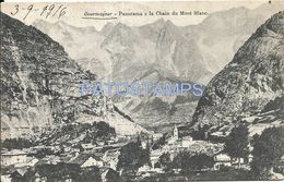 81434 ITALY COURMAYEUR PANORAMA E LACHAIN OF MONT BLANC CIRCULATED TO ARGENTINA POSTAL POSTCARD - Italia