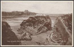 The Island, Newquay, Cornwall, 1930 - Valentine's Photo-Brown Postcard - Newquay