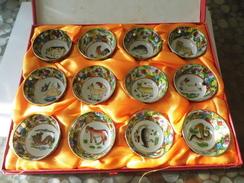 Coffret à Saké - Chine - Animaux  - - Cups