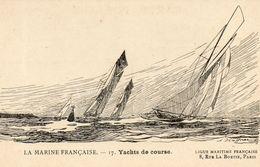 - Illustration De Affner. - Yachts De Course.  - Cpa - - Segelboote
