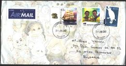 Mailed Cover With Stamps Sport Olympic Games Medals 2012, Ship 1999, Fauna 2016 From  Australia - Covers & Documents