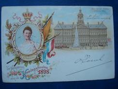 Koningsfeesten Koninging Wilhelmina  In 1898 : Koninging Paleis AMSTERDAM - Amsterdam