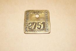 Mine,Mineur,ancienne Plaque Originale,Fond Charbonnage Du Roton,Sainte Catherine N° 2751 - Tools