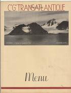 Menu Paquebot Champlain Spitzberg Croisière Médicale Francaise 1936 Compagnie Transatlantique - Menus