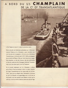 A Bord Du S/S Paquebot Champlain Croisière Médicale Francaise 1936 Compagnie Transatlantique Madere Teneriffe Rabat ... - Menus