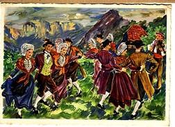 """Groupe Folklorique :  La Tricoutine Du Vercors,"""" Les Trois Roses"""" Grenoble - Danses"""