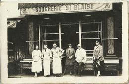 Bouchers Boucherie St Blaise   Carte Photo - Francia