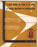 Tram Tramways Bus SNCV Brochure Belgique De 1958 Bien Illustrée - Transports