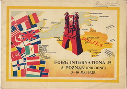 Pologne Poland Polska Foire Internationale De Poznan Mai 1925 - Dépliants Turistici