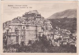 168 - SUBIACO ROMA PANORAMA PARZIALE E SEMINARIO PONTIFICIO 1940 CIRCA - Italia