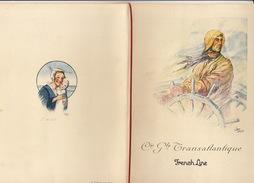 Paquebot Champlain Programme De Bienfaisance 1936 Cie Gle Transatlantique Illustré Par Jean Droit - Boten