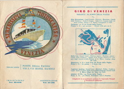 Plan De Venise Venizia Motoscafi Bateau - Dépliants Touristiques