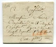 !!! DEPARTEMENT CONQUIS, 86 JEMMAPES, MARQUE POSTALE PORT PAYE DE MONS DE 1806 - Postmark Collection (Covers)